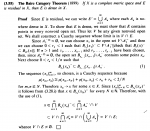 Stromberg - Theorem 3.55 ... Baire Category Theorem ... .png